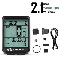 White Light-Wireless-INBIKE Waterproof Bicycle LED Digital Rate Wireless/Wired MTB Bike Odometer Stopwatch Speedometer