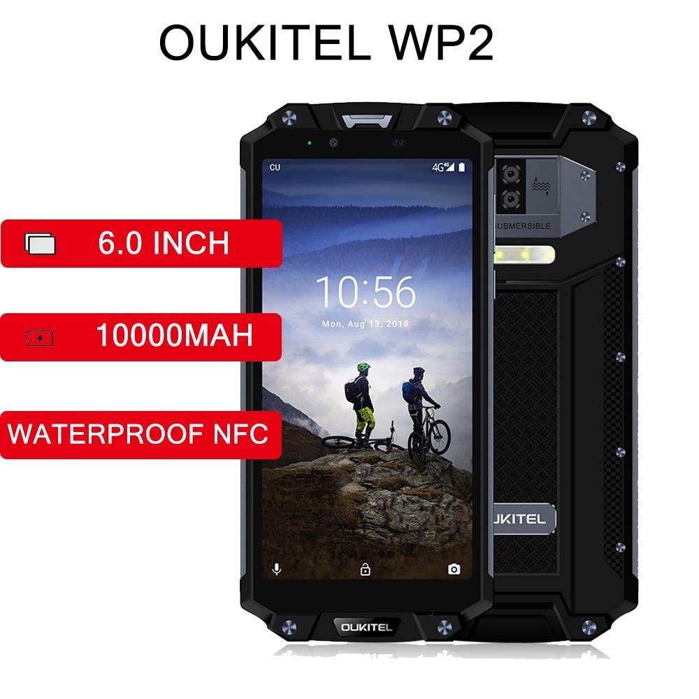 Фото. OUKITEL 10000 мАч WP2 4G водонепроницаемый 6,0 дюймов 2160x1080 ips Восьмиядерный 4 Гб ram 64 Гб rom