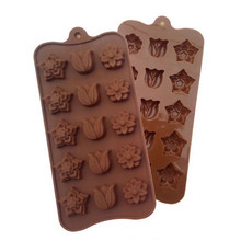 15 Holes 3 Flower Silicone Molds Chocolate Mould Home Kitchen Accessories Pastry Supplies Cake Shop DIY Cake Decorating Tools недорого