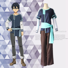 Wholesale New Japanese Anime Sword Art Online Alicization Kirigaya Kazuto Cosplay Costumes Outfits Uniform For Halloween Party(China)