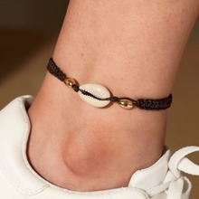Hello Miss New fashion anklet simple shell conch rope metal ball womens jewelry gift