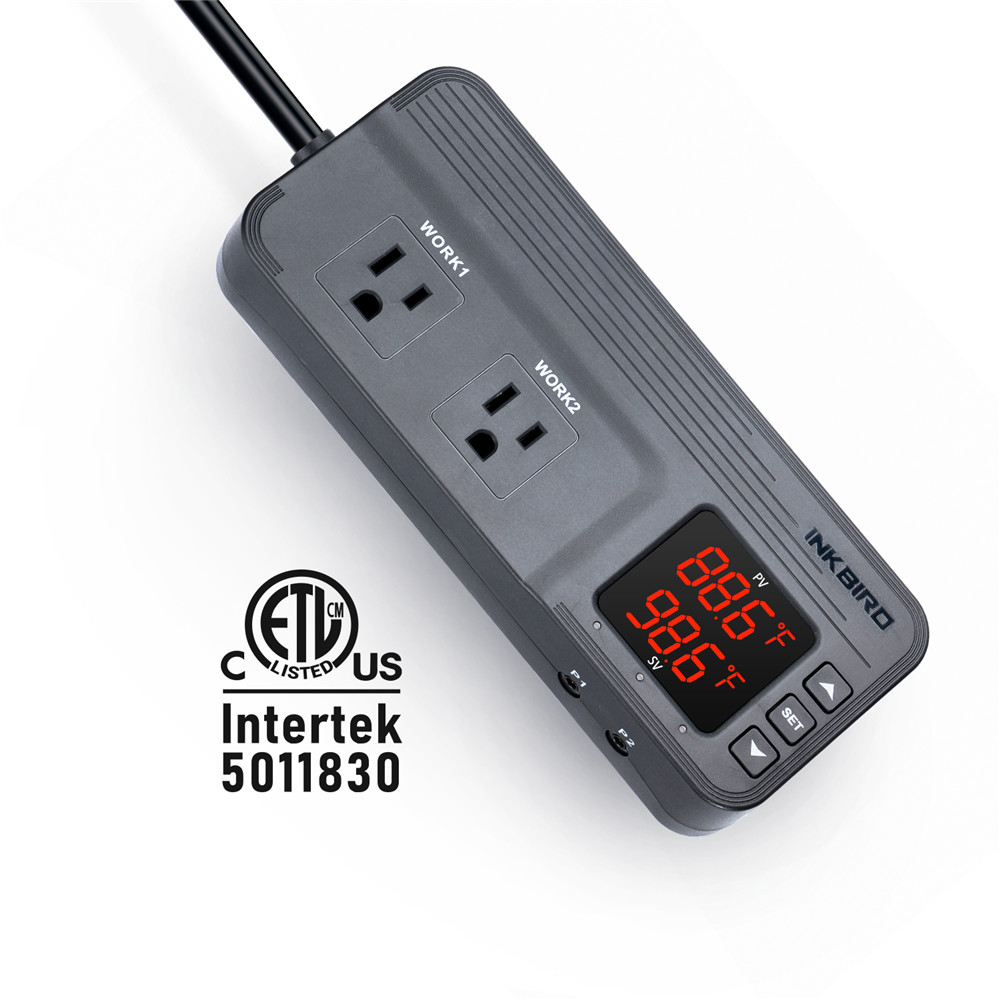 Inkbird ITC-608T Temp and Humidity Controller Pre-wired Dual Relay Output 1800w