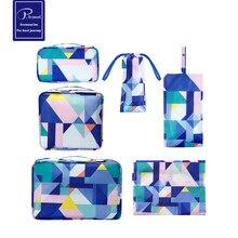 P.travel Travel Storage 6 Piece Set Luggage Storage Travel Goods Clothing Storage Set Customization