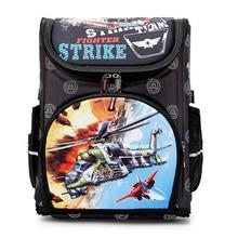 Uçak desen okul erkekler için sırt çantası karikatür okul çantası çocuk ortopedik sırt çantaları ilköğretim Mochila Infantil sınıf 1 3