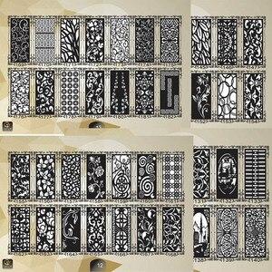 Image 3 - 2000 باب معدني ديكور المنزل حديقة ورقة dxf تنسيق 2d ناقلات تصميم الرسم لجمع ملفات القطع البلازما بالليزر باستخدام الحاسب الآلي