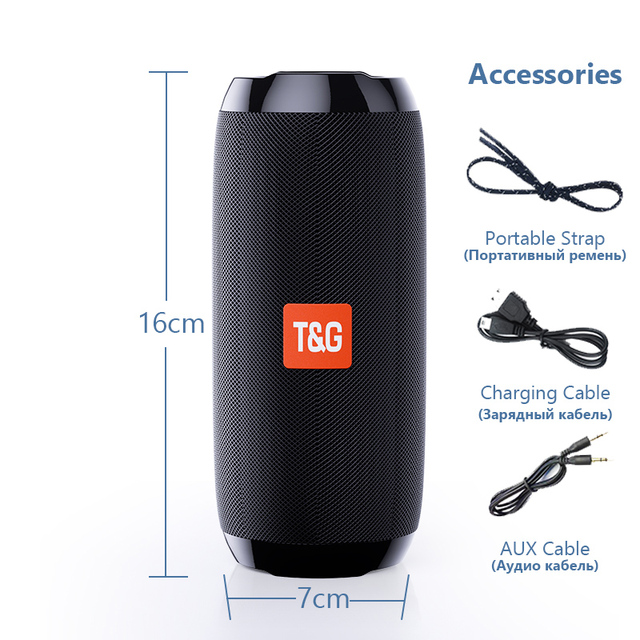 Portable Bluetooth Speaker 20w Wireless Bass Column Waterproof Outdoor Speaker Support AUX TF USB Subwoofer Stereo Loudspeaker 6