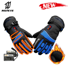 Motorcycle Gloves Waterproof Winter Battery Powered Moto Electric Heated Gloves Motorbike Racing Riding Keep Warm Heating Glove savior motorcycle heating gloves riding racing biking winter sports electric rechargeable battery heated warm gloves cycling