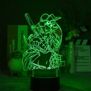 Akrylowe 3d lampka nocna Anime Gurren Lagann Yoko rysunek Nightlight dla dziecka dekoracja sypialni oświetlenie dziecko prezent lampa na stolik nocny tanie i dobre opinie jincor CN (pochodzenie) ROHS Z certyfikatem VDE Ogniwo suche Z tworzywa sztucznego Żarówki LED HOLIDAY Acrylic Baby gifts holiday Christmas decoration