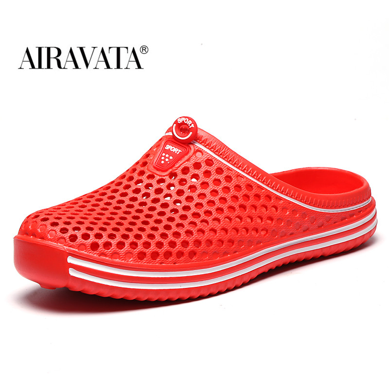 Sandals Woman Beach Shoes Ligthweight Quick-drying Garden Clog Breathable Slip-on Trekking Sandals