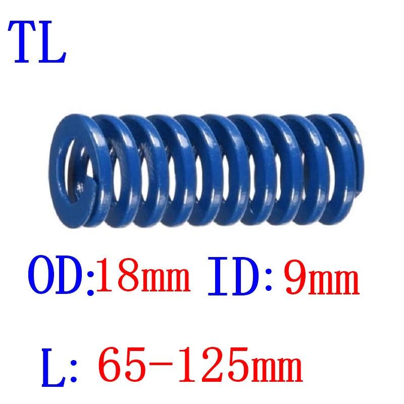1 шт. синий светильник спиральная штамповочная прессформа для прессформы наружный диаметр 18 мм внутренний диаметр 9 мм Длина 65-125 мм