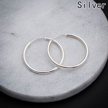 Big Smooth big ears ring Clear Circle Round Hoop Charm Earrings Delicate 1Pair(China)
