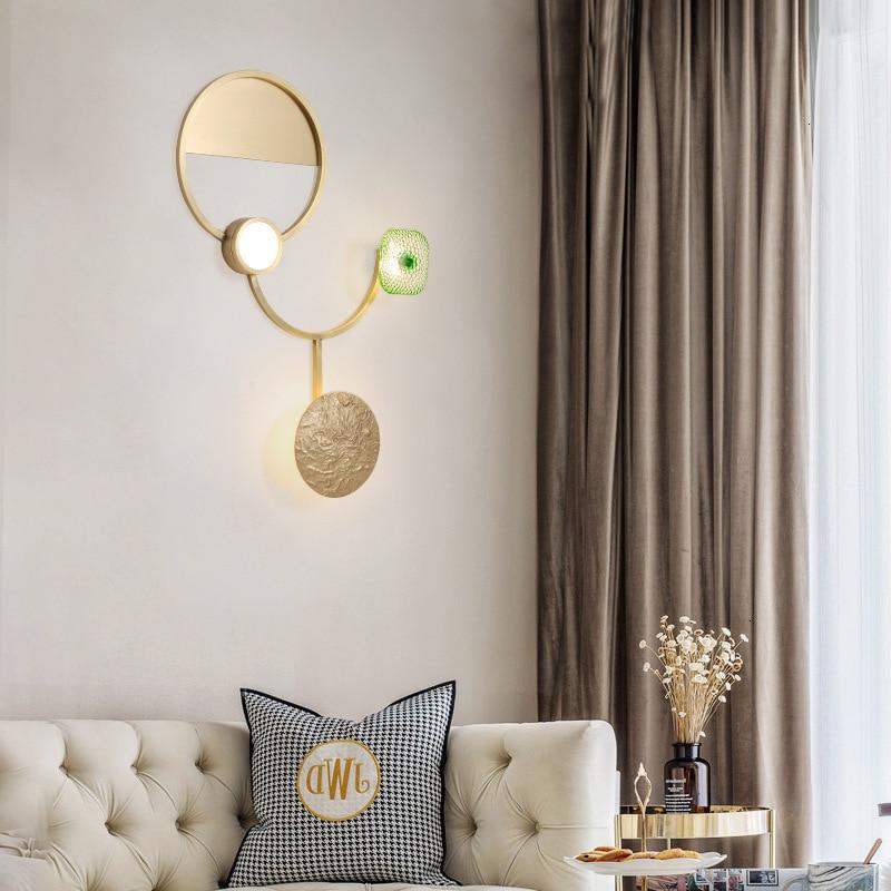 Moderne américain luxe applique Simple salon chambre lampe de chevet décor maison applique murale luminaire Luminaria