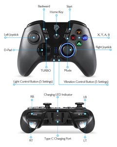 Image 3 - EasySMX ESM 9110 Wireless Gamepad Joystick For PC Windows 10 Android Phone TV/TV Box PS3 Vibration LED Customized Buttons