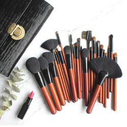 OVW 26 pcs Natural Synthetic Makeup Brushes Set Cosmetic Crease Cut Blending Eyeshadow Kit Tools Foundation Powder Brush