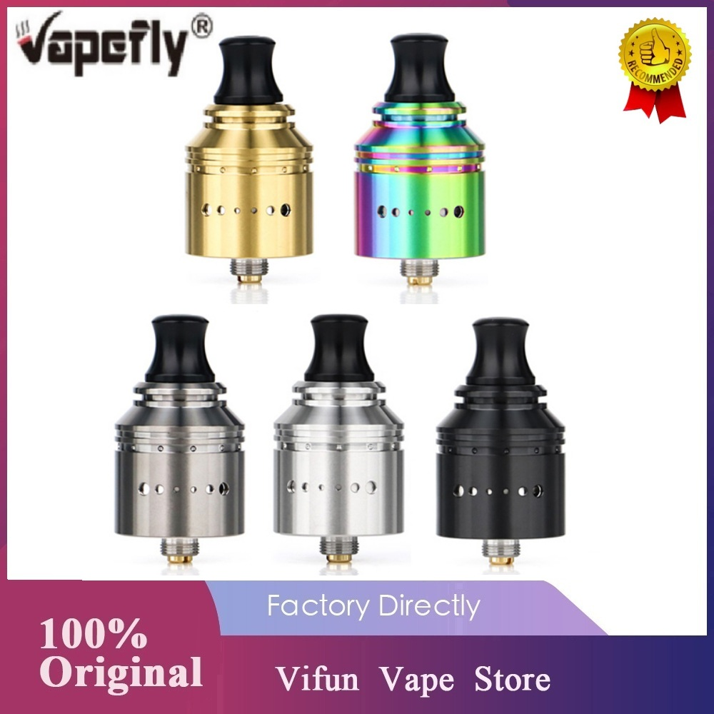 New Original Vapefly Holic MTL RDA Easy Single Coil Building 22.2mm RDA With Side Airflow Adjustable & Top Fill E-cig Vape Tank