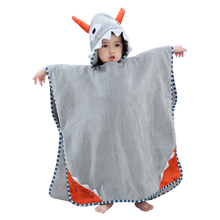 High Quality New Baby Bathrobe Cute Hooded ox horn Bathrobe 0-7 Years Babies Colorful Animal Cotton Pajamas Children's Towel