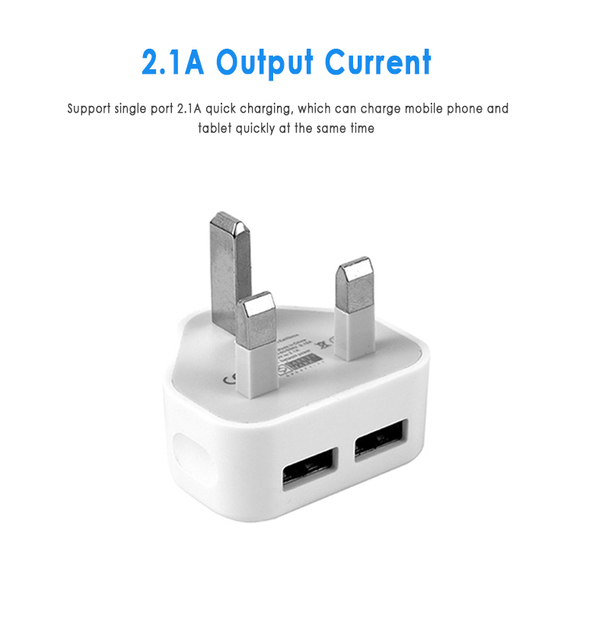 Newest UK Plug USB Charger 3 Plug Adapter Tablet Portable Wall Mobile Charger Fast Charger For Travel For IPhone Huawei Mate 30
