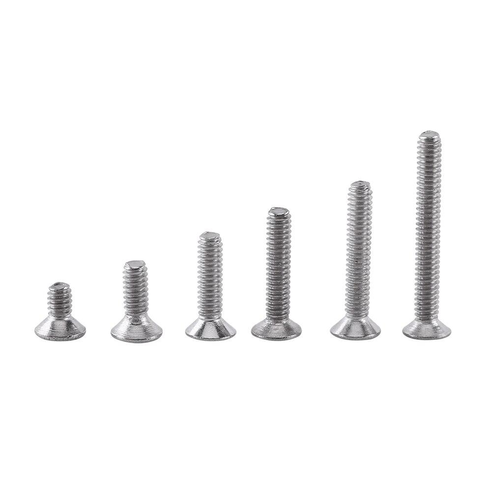 250PCS/Set M2 Cap/Button/Flat Head A2 Stainless Steel Hex Socket Screw Bolt Nut Assortment Kit