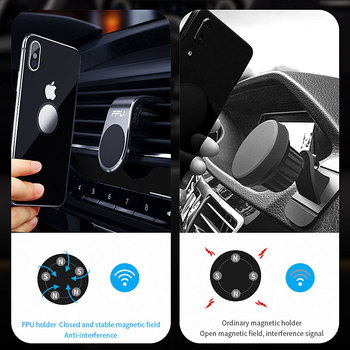 FPU Car Phone Holder For Phone In Car Mobile Support Magnetic Phone Mount Stand For Tablets And Smartphones Suporte Telefone 1