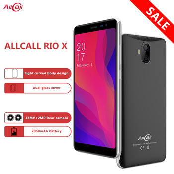 AllCall Rio X Smart Phone 5.5 1GB RAM 8GB ROM Android 8.1 Cell Phone Quad Core Dual Cameras 13MP+5MP 2850mAh 3G Mobile Phone smartron s805 quad core android 4 4 2 google tv player w 1gb ram 8gb rom 47 country xbmc h 265