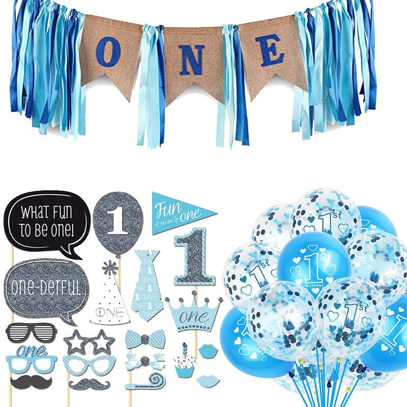 Party Supplies 1st Birthday Party Supplies Fun At One Boy Balloon Blue Star Home Garden Ohioeyecareconsultants Com