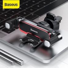 Baseus – Support de téléphone portable invisible en métal pour voiture, Support pour téléphone à 4.7 pouces, sortie d'air automatique, gravité, 6.5