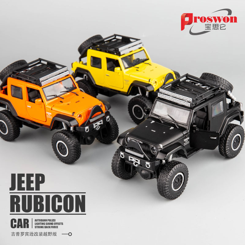 1:32 High Simulation Wrangler Jeep Corss Country Alloy Car Model Sound And Light Off-road Pull Back Toy Car For Children Gifts