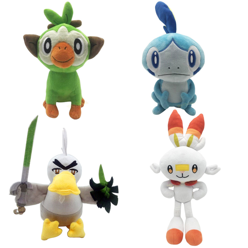 New Sobble Scorbunny Grookey Sirfetch'd Plush Dolls Toy pokemones Sword Shield Stuffed Plush Toys Christmas Gift for Kids Friend