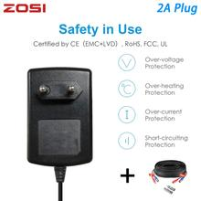 Zosi Eu Ons Uk Au Plug 100 240V Naar Dc 12V 2A Power Adapter Voeding Lader Bnc kabel Voor Led Strips Licht Cctv Systeem Dvr Nvr Kit
