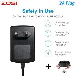 Image 1 - Zosi Eu Ons Uk Au Plug 100 240V Naar Dc 12V 2A Power Adapter Voeding Lader Bnc kabel Voor Led Strips Licht Cctv Systeem Dvr Nvr Kit