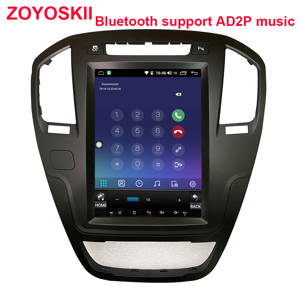 ZOYOSKII Android 8.1 9.0 Os 10.4 Inch Car Gps Multimedia Radio Bluetooth Navigation Player For Opel Insignia 2009-2013