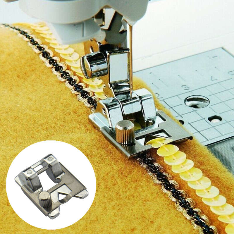 Elastic Cord Domestic Sewing Machine Elastic Presser Foot for Brother Juki
