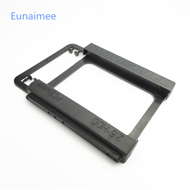 "Black Universal 2.5"" To 3.5"" Bay SSD HDD PC Hard Disk Drive Bracket Adapter Rail Environmental Plastics Adapter Mounting Bracket"