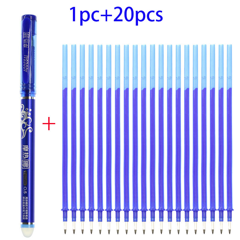 Students Use Magic Erasable Pen And Refill Blue Replaceable Pen Stationery Pen Gel Pen 0.5 Mm Letter Pen Tip Bullet High Quality