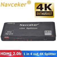 2019 Best HDMI Splitter 1x2 HDMI 2.0 Splitter 4K HDMI Video Audio Splitter Support CEC HDR 4K 60Hz Splitter HDMI 1x4 For Laptop