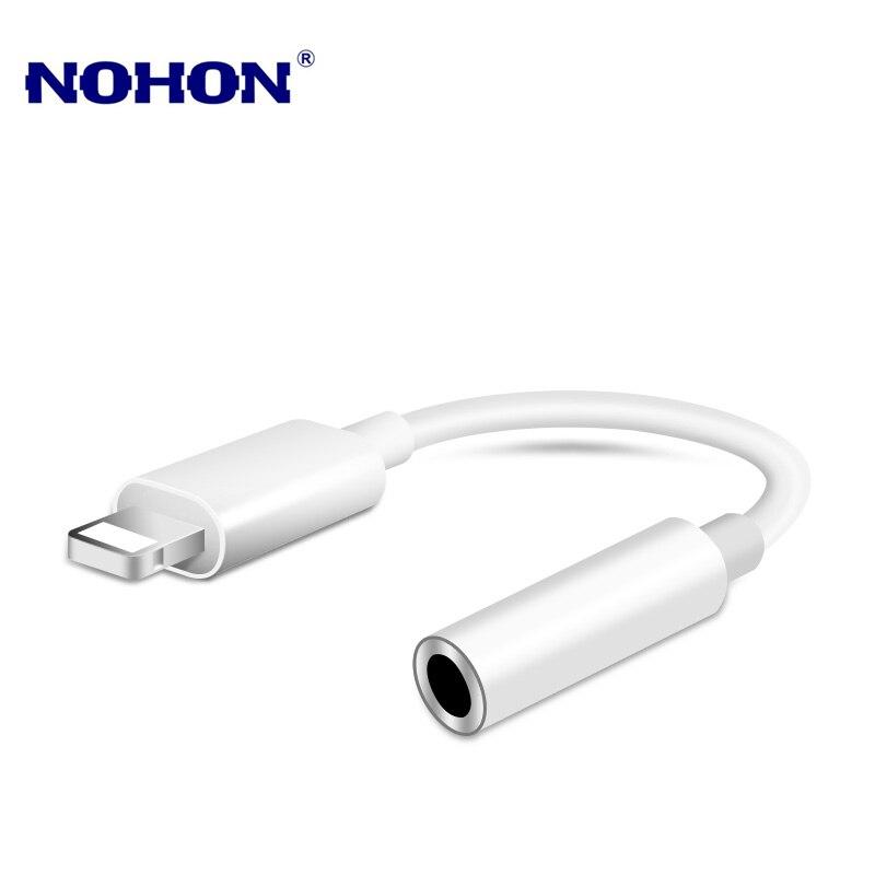 Iluminação para 3.5mm jack aux adaptador de áudio para iphone 8 7 plus iphone x xr xs 11 12 pro max fone de ouvido conector de música cabo adaptador
