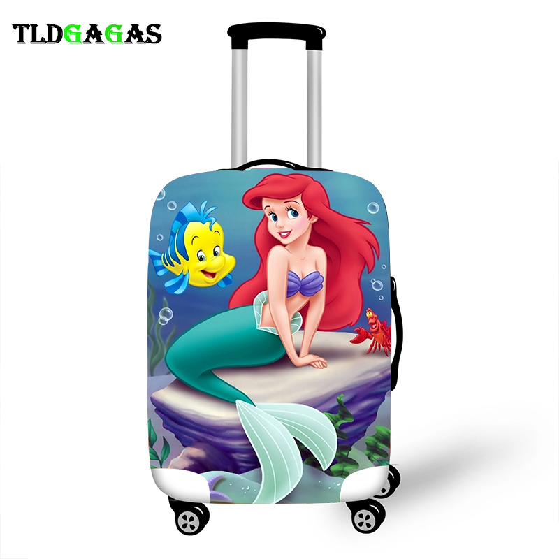 Black Chocolate Mermaid Birthday Gift Idea for Girls Travel Luggage Anti Scratch Dust-proof Protector Mermaid Suitcase Luggage Cover