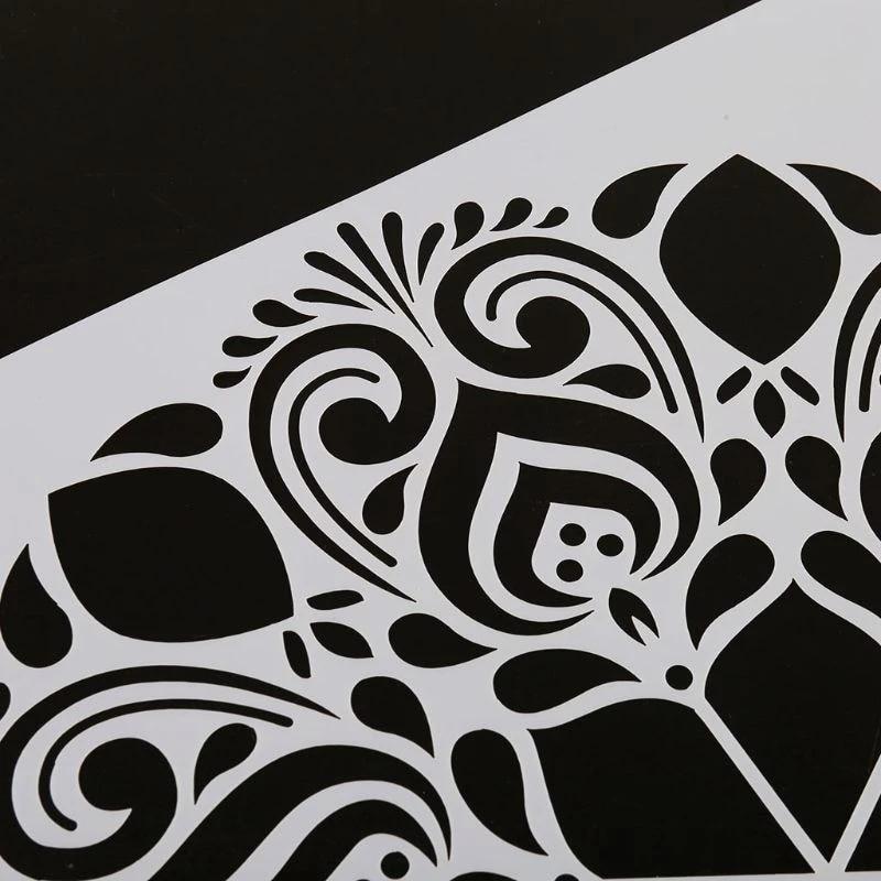 4 Pieces Ensemble Mandala Pochoir Peinture Murale Bricolage Dessin Modele Carrelage Meubles Aliexpress