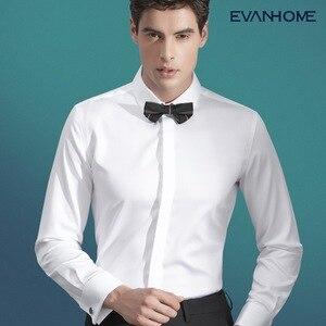 Wysokiej jakości francuski mankiet męska sukienka z długim rękawem regularny krój mężczyzna społecznej wesele spinki koszula Plus rozmiar 5XL 6XL