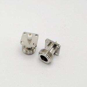 Image 5 - Bakır N tipi N dişi RF koaksiyel adaptör konnektörü 17.5x17.5mm N tipi Panel montaj şasi konnektörü 10 adet/grup