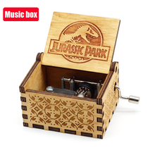 Music-Box Jurassic Park Hand-Crank Wooden Theme Christmas-Gift Sunshine Carved Queen-You