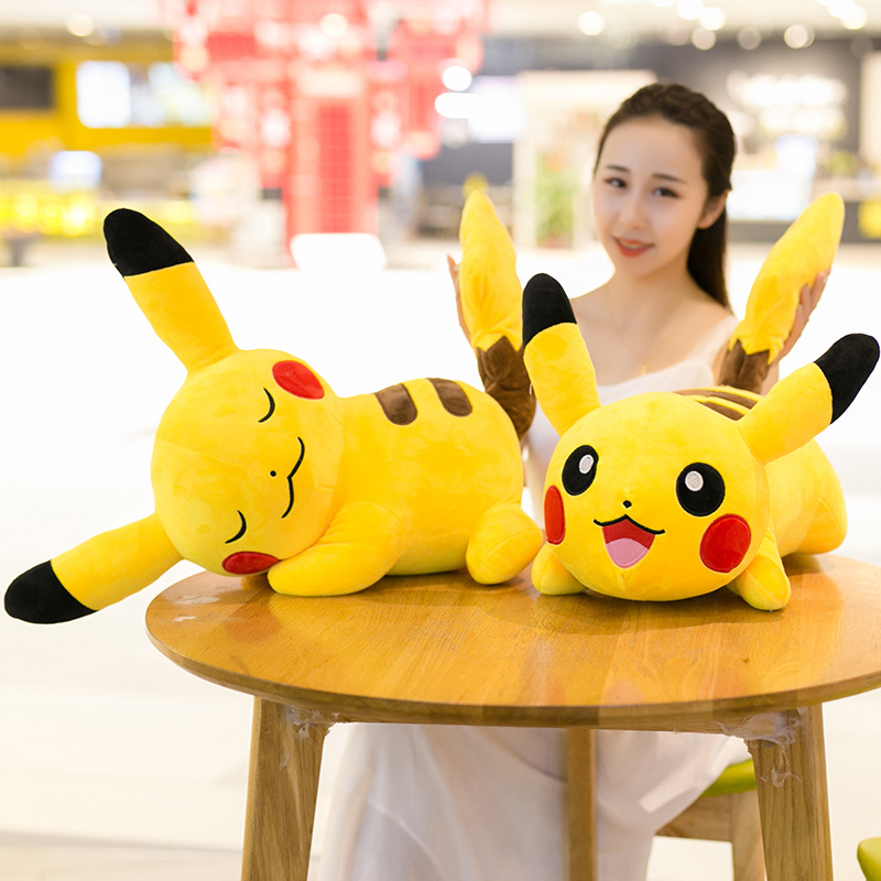 Big Kawaii Pokemon Pikachu Plush Doll Cute Anime Cartoon Pikachu Pokemon Stuffed Animal Plush Doll Baby Kids Toy Children Gift