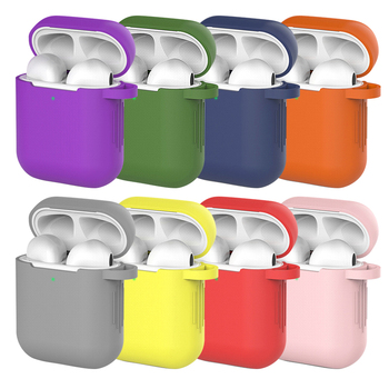 Candy Colors Soft Silicone Case For Apple Air Pods 2 Cases For AirPods 2 Silm Shockproof Earphone Protective Cover Accessory image