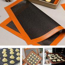Tapete de silicona perforada antiadherente para horno, revestimiento de hoja para galletas/PAN/macarrones/galletas, utensilios de cocina calientes