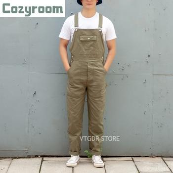 Cozyroom Retro HBT Workwear Overalls Heavyweight Double Front Knee Men Suspenders Pants 1
