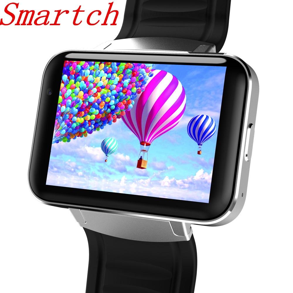 Smartch DM98 montre intelligente Android grand écran 320*240 MTK double noyau 1.2G 900mAh avec WIFI 3G GPS Smartwatch pour Android IOS