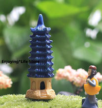 Украшение мебели leifeng пагода башня из девяти этажей мох микро