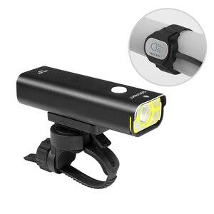 Image 5 - Gaciron poziom konkursu światło rowerowe 800 lumenów reflektor na kierownicę rowerową 5 trybów przełącznik drutu 2500mAh IPX6 wodoodporny rower przednie światła