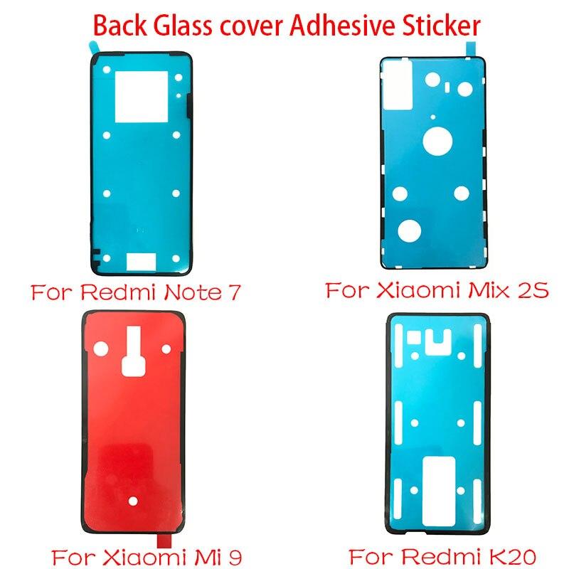 1Pcs Back Glass Cover Adhesive Sticker Stickers Glue For Xiaomi Mi 9 Mi 9t Pro Mix 2S / Redmi Note 7 K20 Pro Note 8 Pro