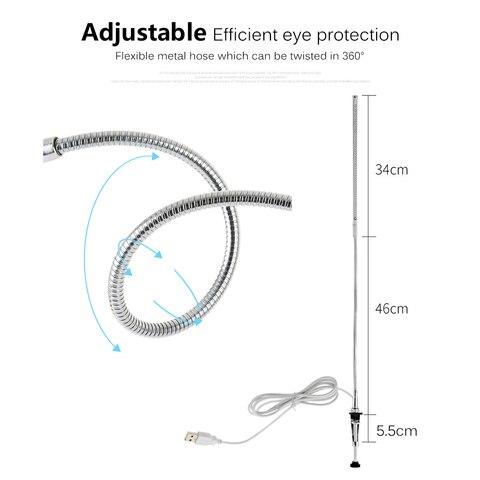 de mesa escritorio usb flexivel protecao para os olhos luz leitura